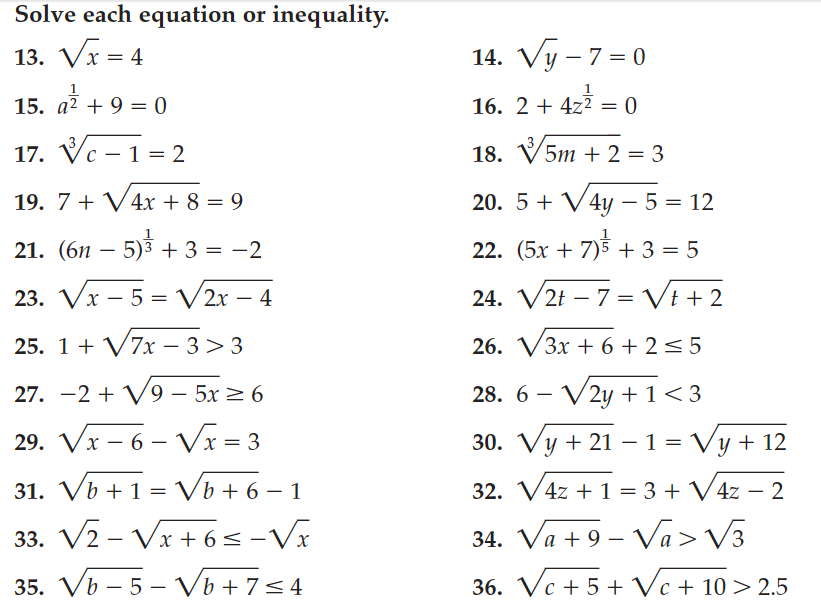 Radical Equations Worksheet With Answers - Davezan